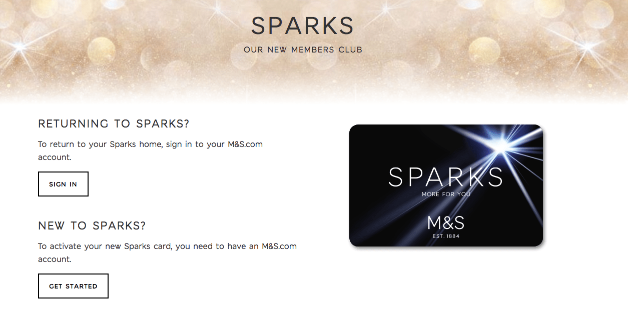 www.marksandspencer.com/sparks activate – M&S Sparks Loyalty Card
