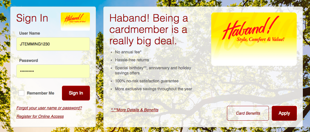 www.comenity.net/haband – Pay Haband Credit Card
